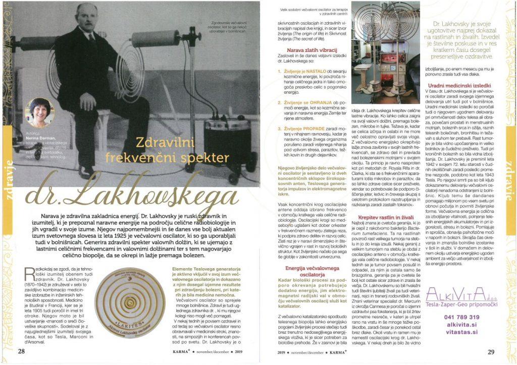 Dr. Lakhovsky vecvalovni oscilator LAKITES