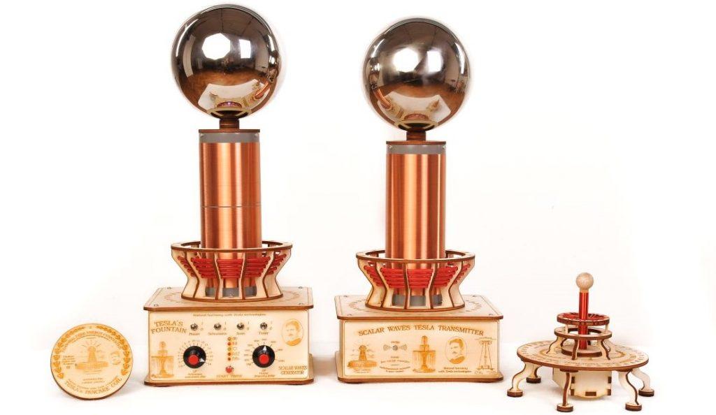 Teslov generator - Baterijska in Profesionalna Teslova fontana, Sferni harmonizator in Teslov medaljon