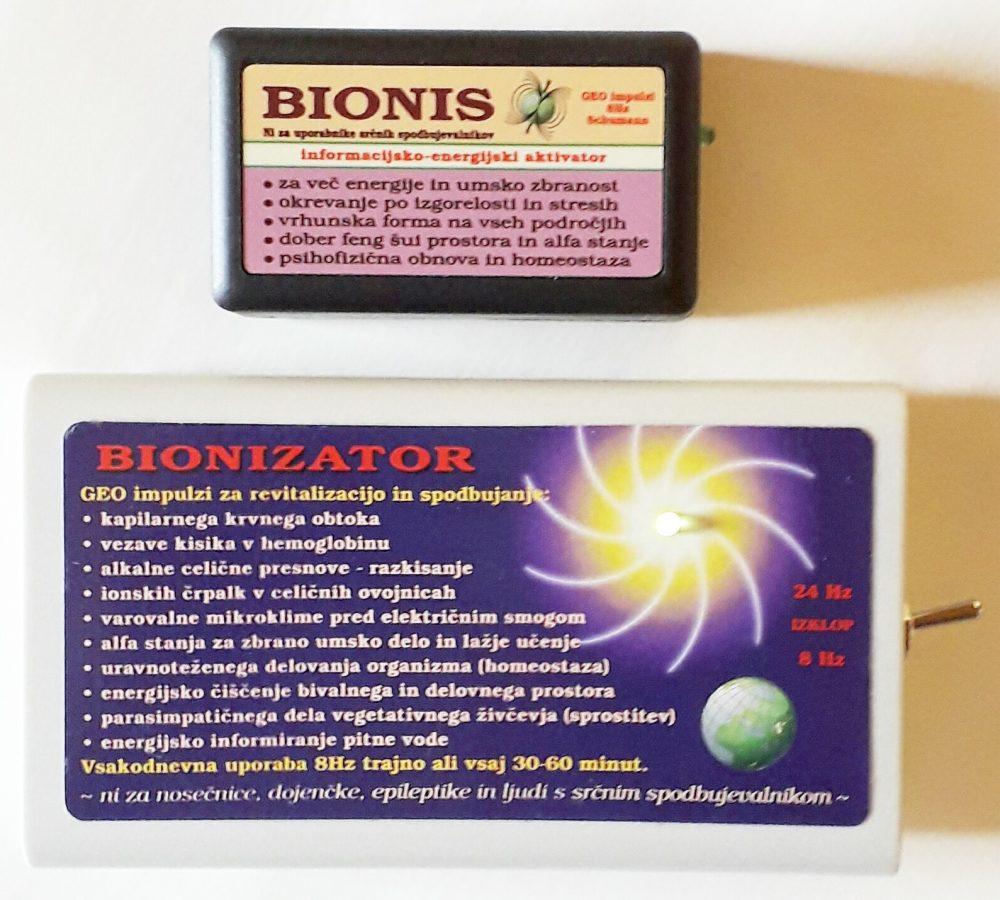 Krvni strdki in Schumannovi geo impulzi Bionis in Bionizator
